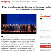 Disney on Broadway Benefit Musicians Release Open Letter; Petition Own Union Photo