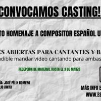 Espacio [RARO] convoca audiciones para el concierto homenaje UN COMPOSITOR ESPAÑOL UNIVERS Photo