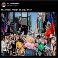 Social Roundup: The Theater Community Gathers for Trans March on Broadway Photo