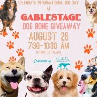 """Gablestage Announces The """"Dog Bone Giveaway"""" Celebrating International Dog Day Photo"""