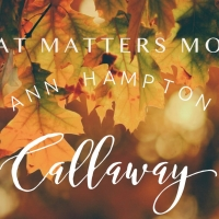 Ann Hampton Callaway Announces Live Stream, WHAT MATTERS MOST Photo