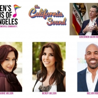 Gov. Gavin Newsom, Carnie & Wendy Wilson and Melvin Robert Join Gay Men's Chorus LA f Photo