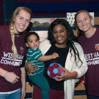 West Ham United Women's Team Players Surprise Families At Stratford Circus With Festi Photo