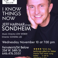 I KNOW THINGS NOW: JEFF HARNAR SINGS SONDHEIM To Premiere November 10 at Feinstein's/ Photo