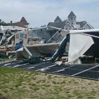 Surflight Theatre's Outdoor Venue Destroyed by Tropical Storm Isaias Photo