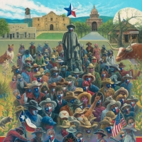 Artist Jack Terry Creates TEXAS MASKUERADE PARTY Painting in Support of Public Awaren Photo