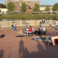 VIDEO: Ursuline Theater Performs 'Songs for a New World' Outside Photo