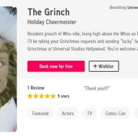 Universal Studios Hollywood Teams With Cameo To Bring Video Greetings From The Grinch Photo