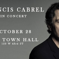 Francis Cabrel Will Appear in Concert At Town Hall
