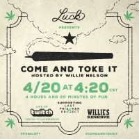 Luck Productions Presents 4/20 Live Stream: Come and Toke It With Willie Nelson Photo