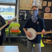 Joe Mullins and Adam McIntosh Present Instruments to Ohio School Photo
