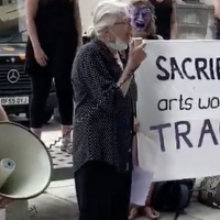 VIDEO: Vanessa Redgrave Speaks Out at Protest Against Job Cuts at the Southbank Centre Photo