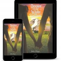 Julia Oliver Promotes Her Historical Romantic Novel DREAM OF THE WHITE STALLION Photo