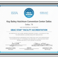 Kay Bailey Hutchison Convention Center Dallas Achieves GBAC STAR Facility Accreditation Photo