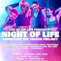 Leg Up On Life Presents NIGHT OF LIFE Benefiting The Trevor Project