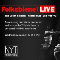 National Yiddish Theatre Folksbiene Continues August Virtual Programming Photo