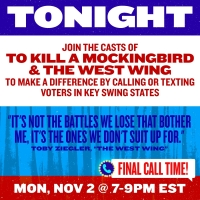 Cast and Creators of TO KILL A MOCKINGBIRD and THE WEST WING to Phone Bank With Broad Photo