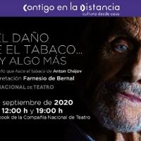 El Actor Farnesio De Bernal Representa El Monólogo Sobre Los Daños Que Hace El Taba Photo