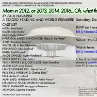 Caroline Grace Productions and 2020 Theatre Company Present MOM IN 2012 World Premier Photo