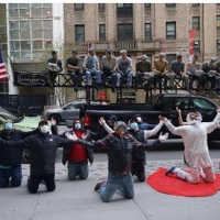 The Heroes Statue, Paying Tribute to Healthcare Workers Arrives in Soho Photo