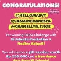 Winners Announced For Hi Jakarta Production's TikTok Challenge Photo