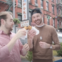 VIDEO: Matt Mucha and Taylor Okey Have an Egg Roll (Mr. Goldstone) on SECOND ACT SNACKS