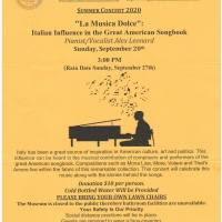 LA MUSICA DOLCE Presents The Italian Influence In The Great American Songbook Photo