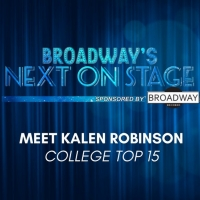 Meet the Next on Stage Top 15 Contestants - Kalen Robinson Photo