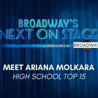 Meet the Next on Stage Top 15 Contestants - Ariana Molkara