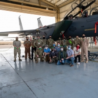AMERICAN IDOL Winner Laine Hardy Makes Inaugural Trip Overseas To Entertain U.S. Serv Photo