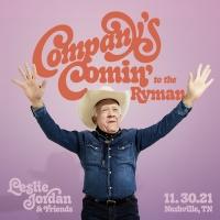 Leslie Jordan Announces One-Night-Only Nashville Concert Performance
