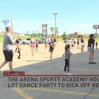 Arena Dance Academy Holds Socially-Distanced Class Photo