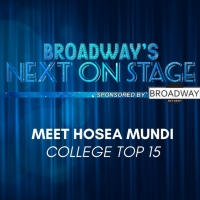 Meet the Next on Stage Top 15 Contestants - Hosea Mundi