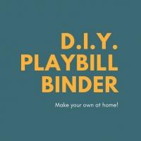 Student Blog: D.I.Y. Playbill Binder Photo