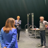 Oliver Dowden Meets With Andrew Lloyd Webber at the London Palladium to Test Safety Measur Photo