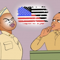 BWW Exclusive: Ken Fallin Draws the Stage - A SOLDIER'S PLAY Photo