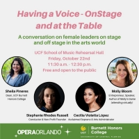 Opera Orlando Presents HAVING A VOICE- ONSTAGE AND AT THE TABLE Photo