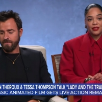 VIDEO: Justin Theroux & Tessa Thompson Talk LADY AND THE TRAMP on GOOD MORNING AMERIC Video