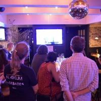 Theater In Asylum Hosts Watch Party Of November 20 Democratic Primary Presidential Debates