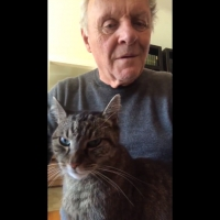 See Anthony Hopkins Play Piano for His Cat During Preventative Quarantine Photo