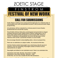Zoetic Stage Launches the Finstrom Festival of New Works Photo