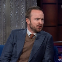 VIDEO: Aaron Paul Talks Jesse Pinkman on THE LATE SHOW WITH STEPHEN COLBERT