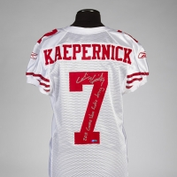 Colin Kaepernick's Rookie NFL Debut 49ers Jersey Heads to Julien's Auctions Dec. 4