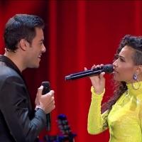 BWW TV: Carlos Rivera y Daniela Pobega se re?nen en LA VOZ Photo