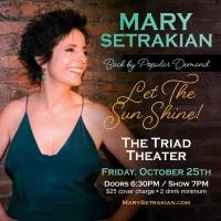Broadway's Mary Setrakian Comes To The Triad