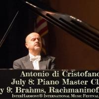 Pianist Antonio Di Cristofano Joins INTERHARMONY FESTIVAL In Italy In July
