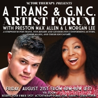 Actor Therapy Announces Trans Community Forum Photo