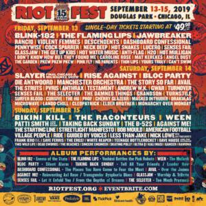 Riot Fest Announces 2019 Daily Lineup