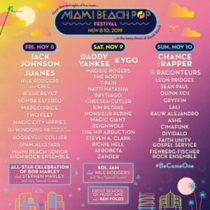 The Miami Beach Pop Festival Announces Daily Lineups