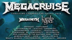 Megacruise (Hosted by Megadeth) Announces Final Lineup With Addition of Lamb of God